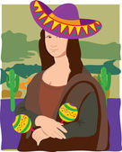 The Mona Lisa dressed in a Sombrero