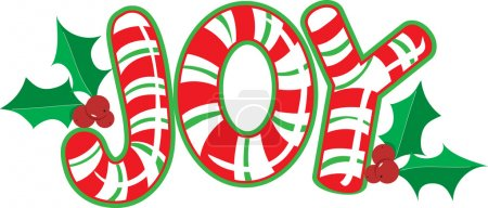 Illustration for The world joy made out of candy canes - Royalty Free Image