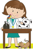 Woman Vet and Pets
