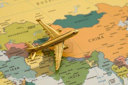 Plane Over Asia