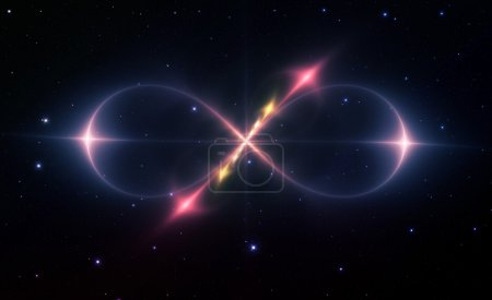 Photo for The sign of infinity in the space - Royalty Free Image
