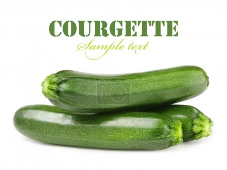 Fresh courgettes