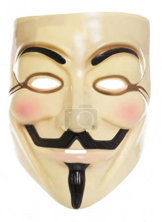 Photo for Guy Fawkes mask studio cutout - Royalty Free Image