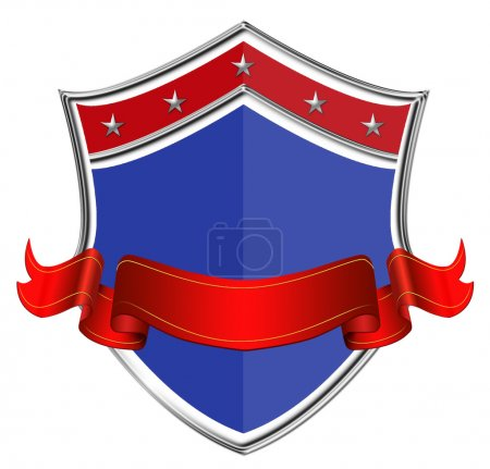 Shield with Ribbon