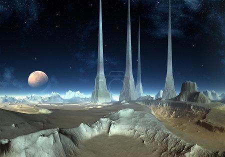 Andia's Pylons - Alien Planet 02