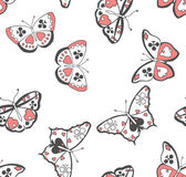 Butterflies suits seamless pattern