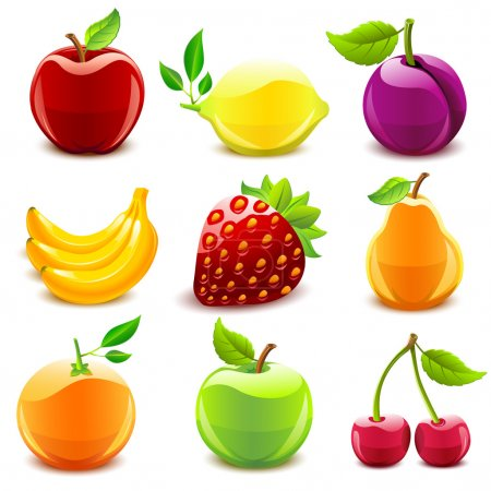 Illustration pour Fruits brillants - image libre de droit