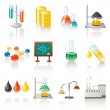 Set of 12 chemical objects...