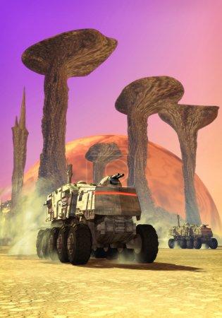 Photo for Alien planet 3D illustration - Royalty Free Image