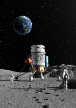 Moon lander 3D illustration