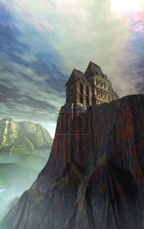 Photo pour Maison hantée Illustration 3D - image libre de droit
