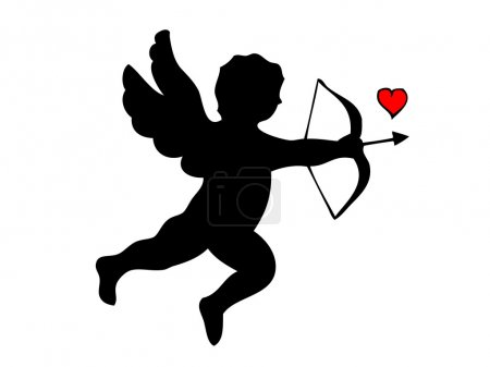 Silhouette of cupid