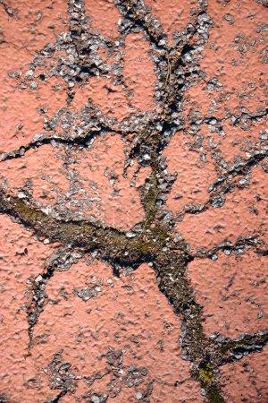 Cracked painted asphalt