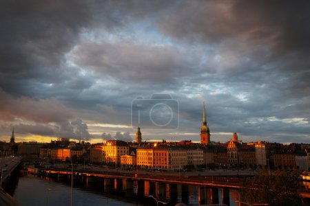 Stockholm city in the evening