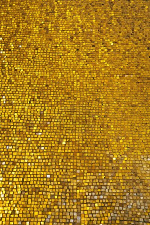 Photo for Background of wall with golden mosaic - Royalty Free Image