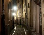 Narrow street in Stockholm