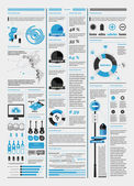 Elements of infographics with a map of America