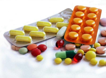 Verschiedene Multicolo-Medikamente