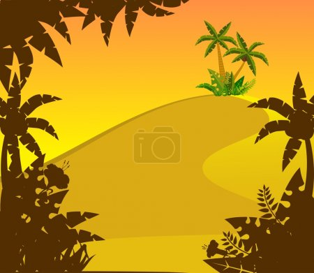 Beautiful Landscape with tropical plants