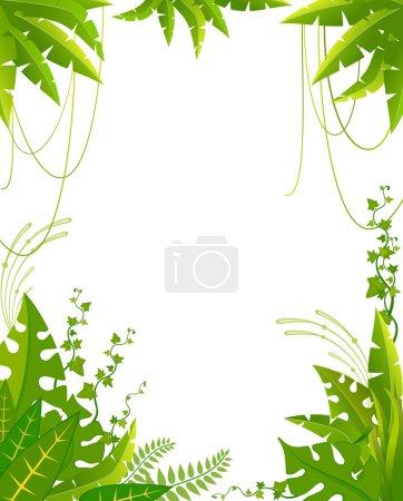 Photo pour Beau fond avec plantes tropicales - image libre de droit