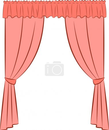 Illustration for The vintage interior with curtain - Royalty Free Image