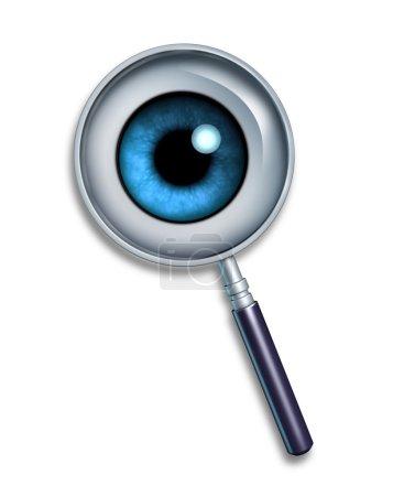 Photo pour Recherche et symbole de recherche à chercher des informations sur le world wide web et des serveurs ftp pour internet métarecherche utilisant les mots clés et descriptions de trouver ima - image libre de droit