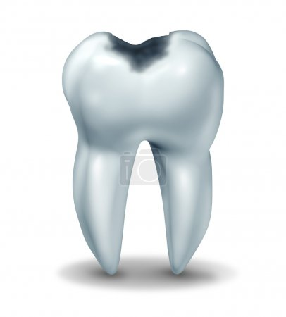 Cavity tooth decay disease symbol