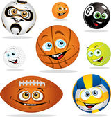 Funny smiling cartoon balls