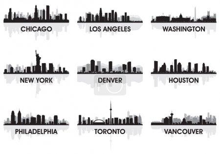 Photo pour L'horizon de ville chicago, los angeles, washington, new york, denver, houston, Philadelphie, toronto, vancouver - image libre de droit
