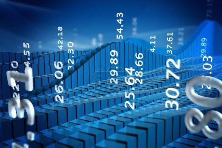 Foto de Representación del mercado de valores de tabla con números abstractos - Imagen libre de derechos