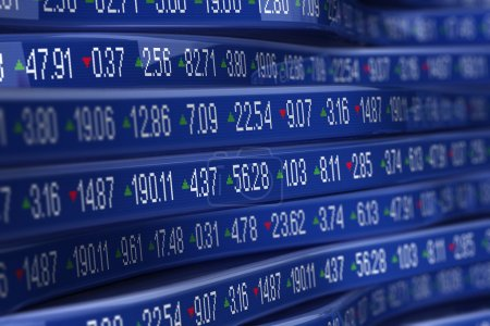 Photo pour Ordinateur generetad trading boursier ticker - image libre de droit