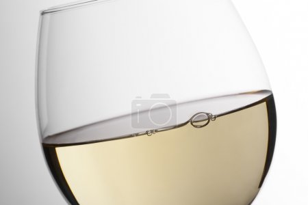 White wine close up