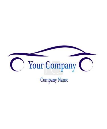 Illustration for Car Dynamics Sign Idea Corporation - Royalty Free Image