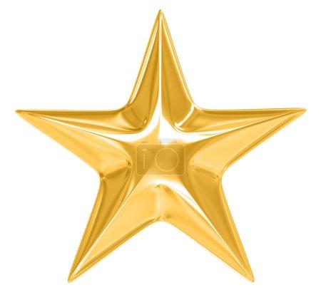 Foto de Estrella dorada sobre fondo blanco - Imagen libre de derechos