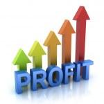 Profit colorful graph concept...