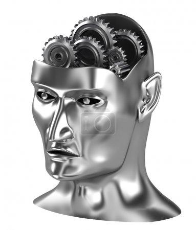 Neural net,Thinking process brain gears