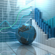Stock market abstract background...