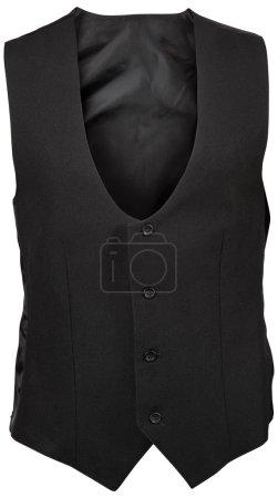 Black male vest