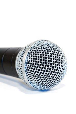Photo pour Microphone de scène pour un artiste de studio d'enregistrement - image libre de droit