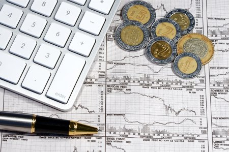 Photo for Business finance graphs of a working capitalist - Royalty Free Image