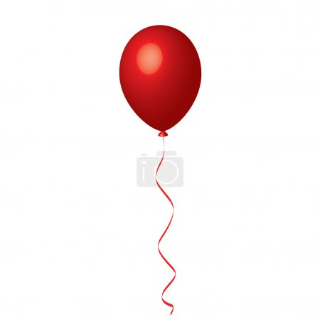 Illustration for Vector illustration of red balloon - Royalty Free Image