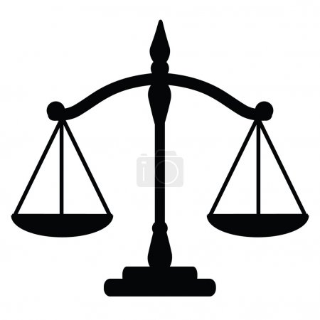 Illustration for Vector illustration of justice scales - Royalty Free Image
