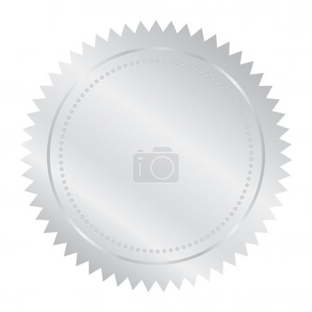 Illustration for Vector illustration of silver seal - Royalty Free Image