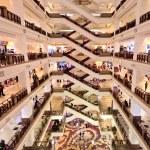 Big shopping mall with many floors in Kuala Lumpur...