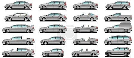 Illustration pour Un vecteur .eps 8 illustration du style de carrosserie de voiture . - image libre de droit