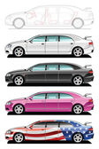 Limousine - part of my collections of Car body style Simple gradients only - no gradient mesh