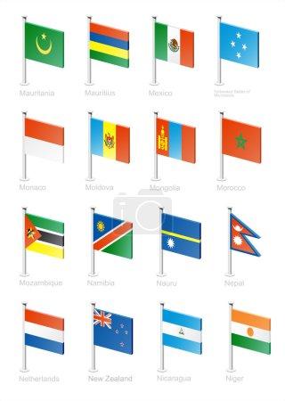 Flag icon set (part 8)