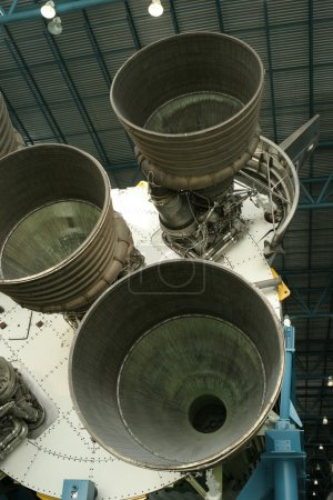A view of the powerful rocket engines and thruster...