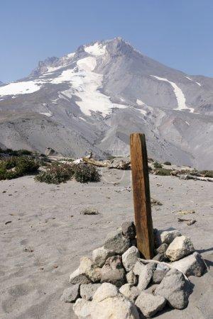 Wood Post On Mt. Hood
