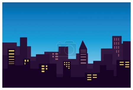 Illustration for Panorama of the city - Royalty Free Image
